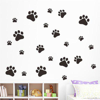 Funny Dog Cat Paw Vinyl Prints for Kids Room Home Decal Wall Stickers DIY Cabinet Door Food Dish Kitchen Bowl StickerWall Stickers<br>Funny Dog Cat Paw Vinyl Prints for Kids Room Home Decal Wall Stickers DIY Cabinet Door Food Dish Kitchen Bowl Sticker<br><br>Art Style: Plane Wall Stickers, Toilet Stickers<br>Color Scheme: Black<br>Function: Decorative Wall Sticker<br>Material: Paper, Vinyl(PVC)<br>Package Contents: 1 x wall sticker, 1 x transfer sheet<br>Package size (L x W x H): 28.00 x 4.00 x 4.00 cm / 11.02 x 1.57 x 1.57 inches<br>Package weight: 0.0600 kg<br>Quantity: 1<br>Sizes: Others<br>Subjects: Animal,Cartoon,Flower,Shape<br>Suitable Space: Living Room,Bedroom,Office,Kids Room,Corridor,Kids Room,Study Room / Office<br>Type: Plane Wall Sticker