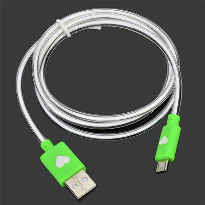 100CM Android USB2.0 Color Luminescence Data CableChargers &amp; Cables<br>100CM Android USB2.0 Color Luminescence Data Cable<br><br>Material ( Cable&amp;Adapter): PVC<br>Package Contents: 1 x Cable<br>Package size (L x W x H): 14.50 x 10.00 x 1.00 cm / 5.71 x 3.94 x 0.39 inches<br>Package weight: 0.0250 kg<br>Product Size(L x W x H): 100.00 x 1.60 x 0.90 cm / 39.37 x 0.63 x 0.35 inches<br>Product weight: 0.0230 kg<br>Type: Cable