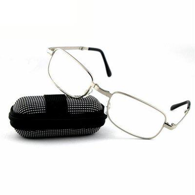Eyes Two way Foldable Readers in Portable Nylon Zip Cases Classic Silver Folding Reading Glasses for Men or Women