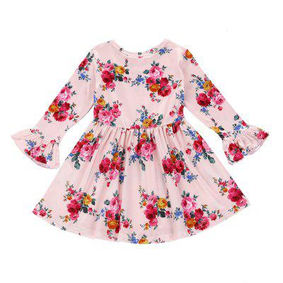 SOSOCOER Girls Dresses Long Sleeved Lace Dress for Pink FlowersGirls dresses<br>SOSOCOER Girls Dresses Long Sleeved Lace Dress for Pink Flowers<br><br>Brand: SOSOCOER<br>Dresses Length: Knee-Length<br>Embellishment: Pattern<br>Material: Cotton, Polyester<br>Neckline: Round Collar<br>Package Contents: 1 x Dress<br>Pattern Type: Floral<br>Season: Spring, Winter, Fall<br>Silhouette: A-Line<br>Sleeve Length: Long Sleeves<br>Sleeve Type: Flare Sleeve<br>Style: Cute<br>Weight: 0.1060kg<br>With Belt: No