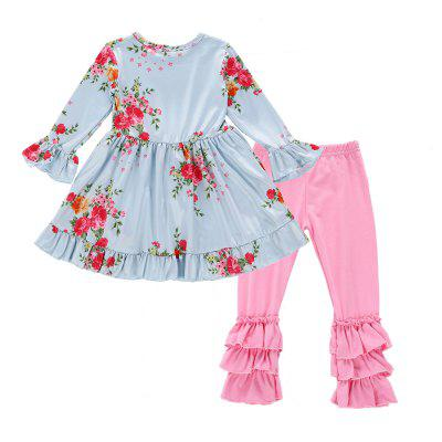 SOSOCOER Kids Girls Clothes Set Long Sleeved Lace Dress and Pants Two Piece SGirls clothing sets<br>SOSOCOER Kids Girls Clothes Set Long Sleeved Lace Dress and Pants Two Piece S<br><br>Brand: SOSOCOER<br>Collar: Round Neck<br>Material: Cotton, Polyester<br>Package Contents: 1 x Dress, 1 x Pair of Pants<br>Pattern Type: Floral<br>Shirt Length: Regular<br>Sleeve Length: Full<br>Style: The Princess<br>Weight: 0.2500kg