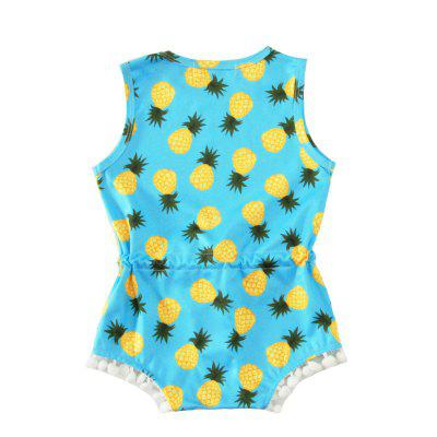 SOSOCOER Newborn Infant Girls Bodysuits Summer Pineapple Printing Sleeveless Wool Ball Lace Romperbaby rompers<br>SOSOCOER Newborn Infant Girls Bodysuits Summer Pineapple Printing Sleeveless Wool Ball Lace Romper<br><br>Brand: SOSOCOER<br>Closure Type: Pullover<br>Collar: Round Neck<br>Color: White,Blue,Yellow<br>Gender: Girl<br>Material: Cotton<br>Package Contents: 1 x Romper<br>Season: Summer<br>Sleeve Length: Sleeveless<br>Sleeve Style: Tank<br>Style: British<br>Thickness: General<br>Weight: 0.1100kg