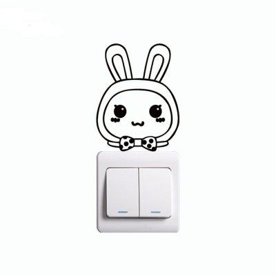 DSU  Cute Rabbit Switch Sticker Funny Cartoon Animal Vinyl Wall Sticker for Bedroom DecorWall Stickers<br>DSU  Cute Rabbit Switch Sticker Funny Cartoon Animal Vinyl Wall Sticker for Bedroom Decor<br><br>Art Style: Plane Wall Stickers, Toilet Stickers<br>Artists: Others<br>Brand: DSU<br>Color Scheme: Black<br>Effect Size (L x W): 10.4 x 8 cm<br>Function: Light Switch Stickers, Decorative Wall Sticker<br>Layout Size (L x W): 10.4 x 8 cm<br>Material: Vinyl(PVC)<br>Package Contents: 1 x Wall Sticker<br>Package size (L x W x H): 12.00 x 10.00 x 1.00 cm / 4.72 x 3.94 x 0.39 inches<br>Package weight: 0.0200 kg<br>Product size (L x W x H): 10.40 x 8.00 x 0.01 cm / 4.09 x 3.15 x 0 inches<br>Product weight: 0.0100 kg<br>Quantity: 1<br>Subjects: Fashion,Letter,Cute,Cartoon,Famous,Game<br>Suitable Space: Living Room,Bedroom,Hotel,Kids Room,Entry,Kitchen,Pathway,Door,Corridor,Hallway,Boys Room,Game Room<br>Type: Plane Wall Sticker