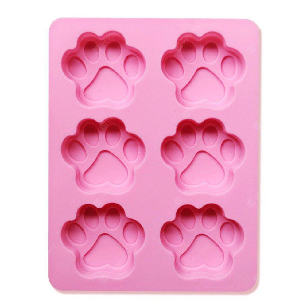 Silicone Dog Puppy Paw Footprint Candy Cake Chocolate Ice Cube Soap Jelly Mold Baking Pan Mould