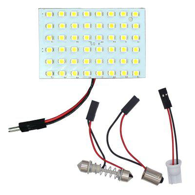 2PCS 48 LED 1210 3528 SMD Car Panel Light Bulbs T10+BA9S+Festoon Dome Lamp