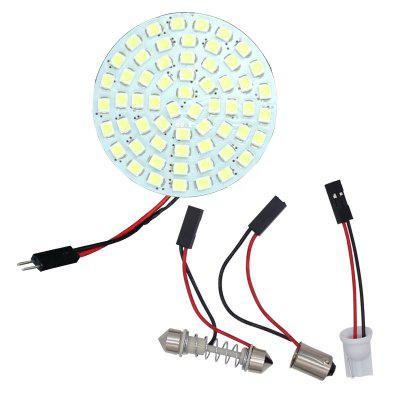 2PCS 60 LED 1210 3528 SMD Car Panel Light Bulbs T10+BA9S+Festoon 12V Dome Lamp