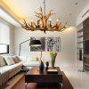 American Country Style Antler Chandeliers for Living Room Bedroom Nordic Restaurant Cafe Bars - MOCHA
