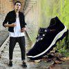 Men Casual Outdoor PU Leather Thick Sole Climbing Shoes - BLACK