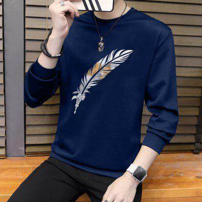 Youth Round Neck Long-Sleeved SweatshirtMens Hoodies &amp; Sweatshirts<br>Youth Round Neck Long-Sleeved Sweatshirt<br><br>Material: Polyester, Spandex<br>Package Contents: 1XSweatshirt<br>Shirt Length: Regular<br>Sleeve Length: Full<br>Style: Casual<br>Weight: 0.4000kg
