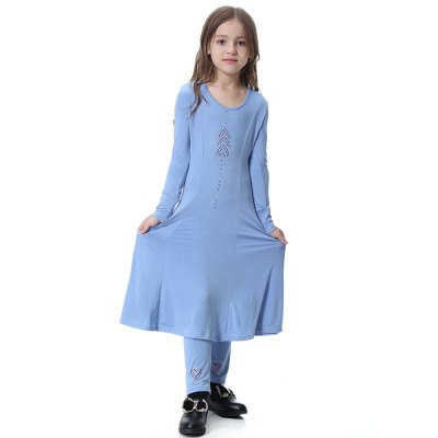 Muslim Girl Dress Abaya TH605Girls clothing sets<br>Muslim Girl Dress Abaya TH605<br><br>Collar: Round Neck<br>Elasticity: Super-elastic<br>Material: Polyester, Spandex<br>Package Contents: 1 x set<br>Pattern Type: Print<br>Shirt Length: X-Long<br>Sleeve Length: Full<br>Style: Joker<br>Weight: 0.3300kg