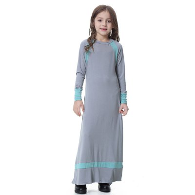 TH604 Muslim Girl Dress AbayaGirls dresses<br>TH604 Muslim Girl Dress Abaya<br><br>Dresses Length: Ankle-Length<br>Elasticity: Super-elastic<br>Material: Polyester, Spandex<br>Package Contents: 1 x Dress<br>Pattern Type: Patchwork<br>Season: Spring, Summer, Fall<br>Silhouette: A-Line<br>Style: Casual<br>Weight: 0.2500kg<br>With Belt: No