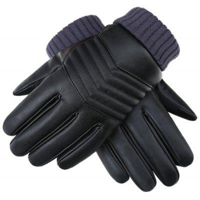 Winter Men s PU Water Skin Leather Touch Screen Leather Gloves To Keep Warm and Bike Riding To Protect Against Cold 253649301