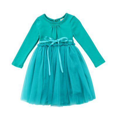 2018 Spring Autumn New Girls Dress Baby Princess Dress Kids Cotton Long Sleeve Skirt