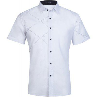2018 Summer Mens New Cotton Short Sleeves Pure Color Shirts