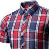 Men'S Short Sleeves Plaid Fleece Shirt - PLAID