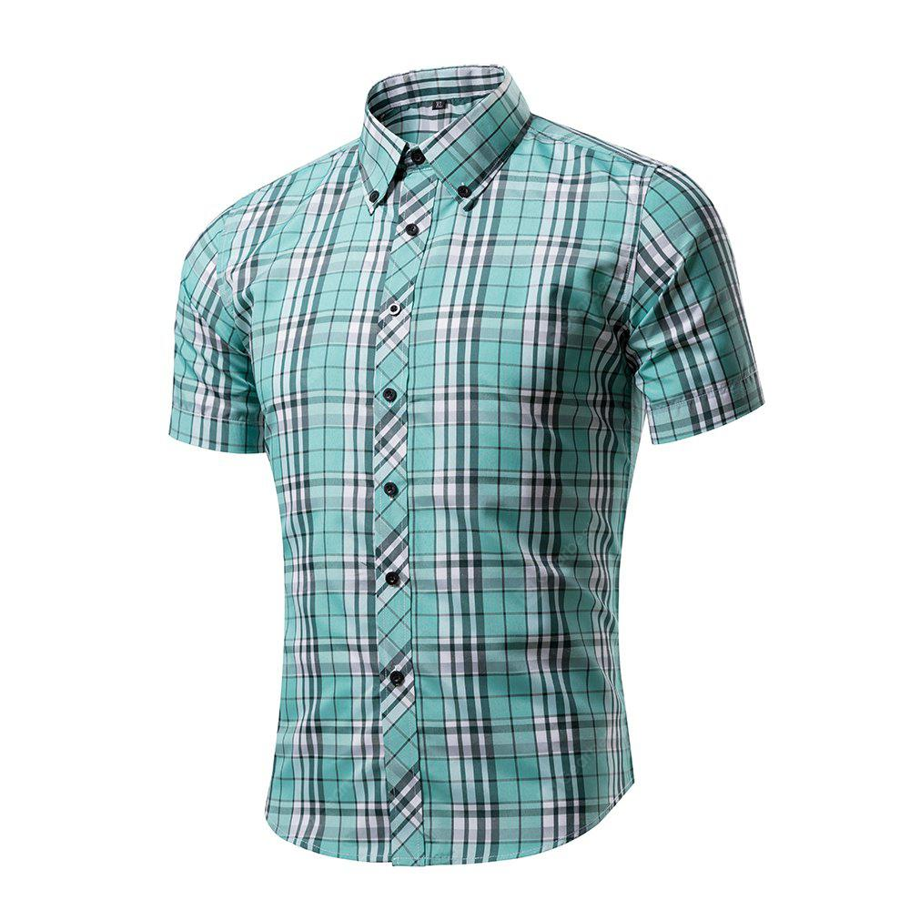 Men's Hipster Plaid Casual Slim Fit Button Down Shirts
