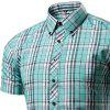 Men's Hipster Plaid Casual Slim Fit Button Down Shirts - PLAID
