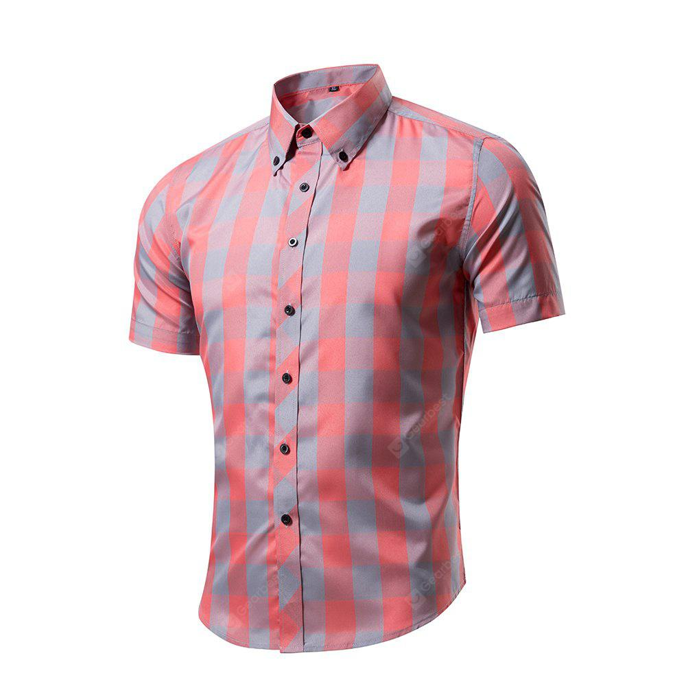 Men's Upland Spacdye Button Down Short Sleeve Shirt