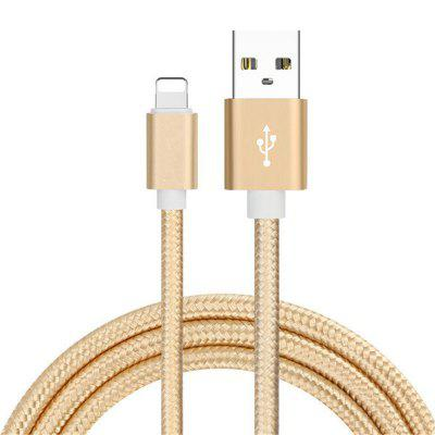 1m Case para iPhone Super Durable Nylon Braided Wire Metal Plug Charger