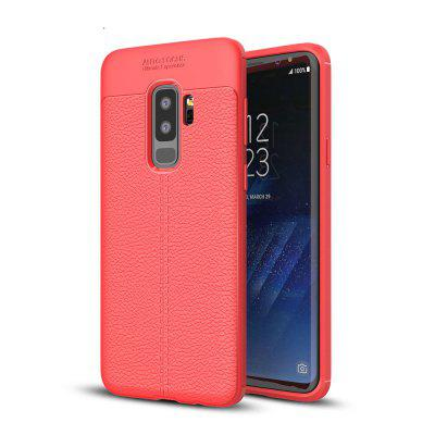 Case for Samsung Galaxy S9 Plus Litchi Grain Anti Drop TPU Soft Cover