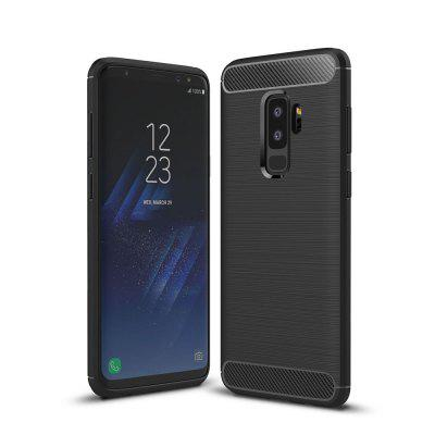 Case for Samsung Galaxy S9 Plus Luxury Carbon Fiber Anti Drop TPU Soft Cover