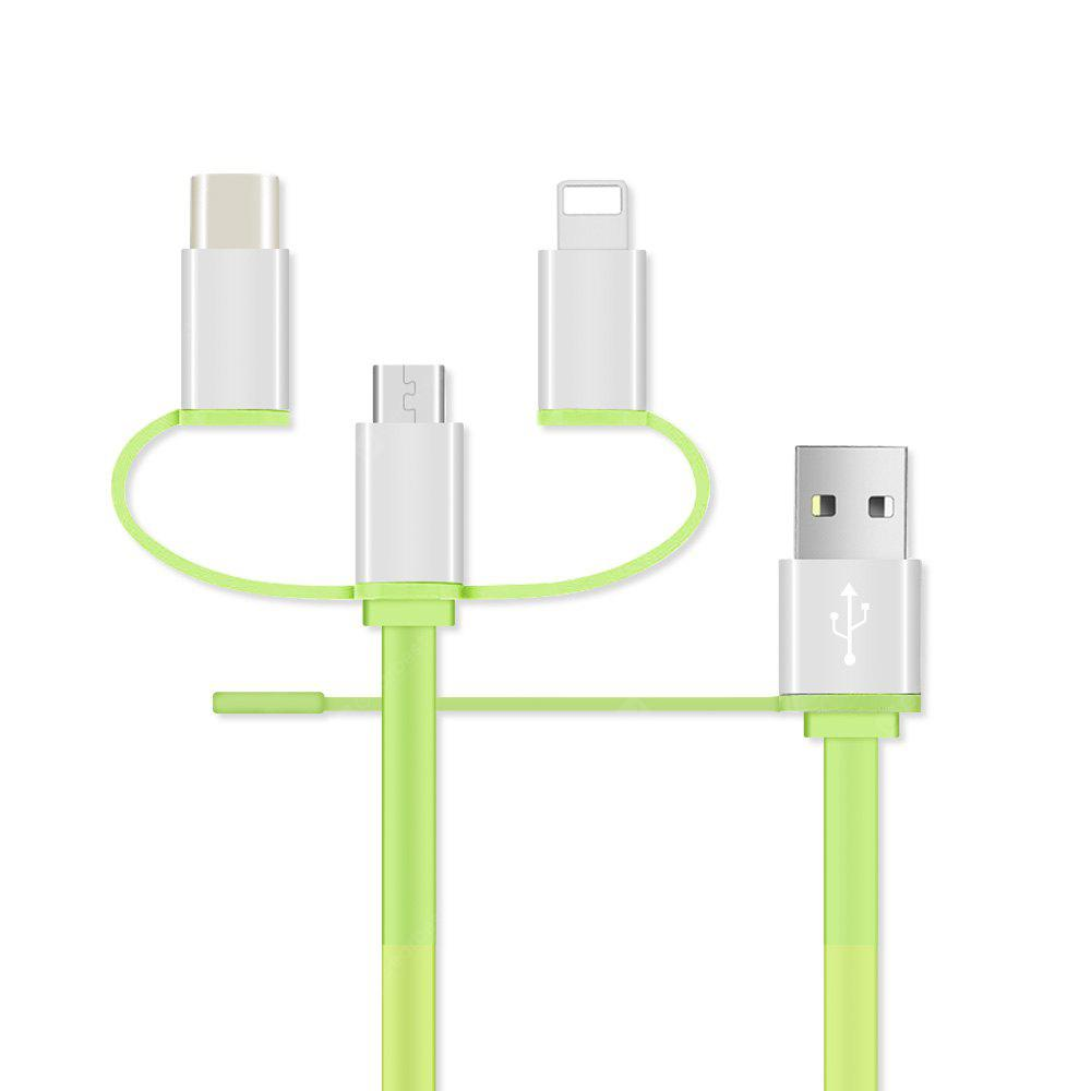 Hot Sale 4 in 1 Multi Usb Date Fast  Charging Cable for Iphone 6 7 8 PLUS X Android Usb Type C