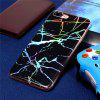 Fashion Color Plated Marble Phone Case For iPhone 8 Plus Case Cover Luxurious Soft TPU Full 360 Protection Phone Bag - BLACK