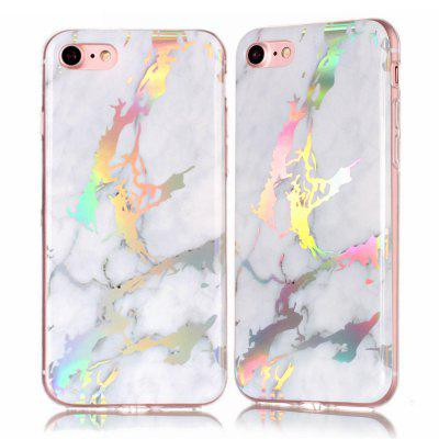 Fashion Color Plated Marble Phone Case For iPhone 8 Case Cover Luxurious Soft TPU Full 360 Protection Phone Bag