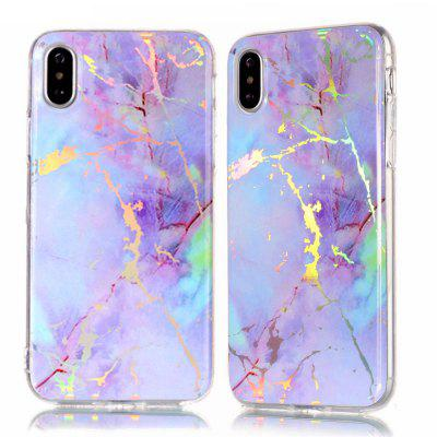 Fashion Color Plated Marble Phone Case For iPhone X Case Cover Luxurious Soft TPU Full 360 Protection Phone Bag