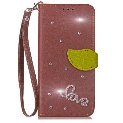 Luxo PU Leather Cover Wallet Phone Case para HOMTOM HT37 Diamond Telefone móvel Case Shell Flip Back Cover