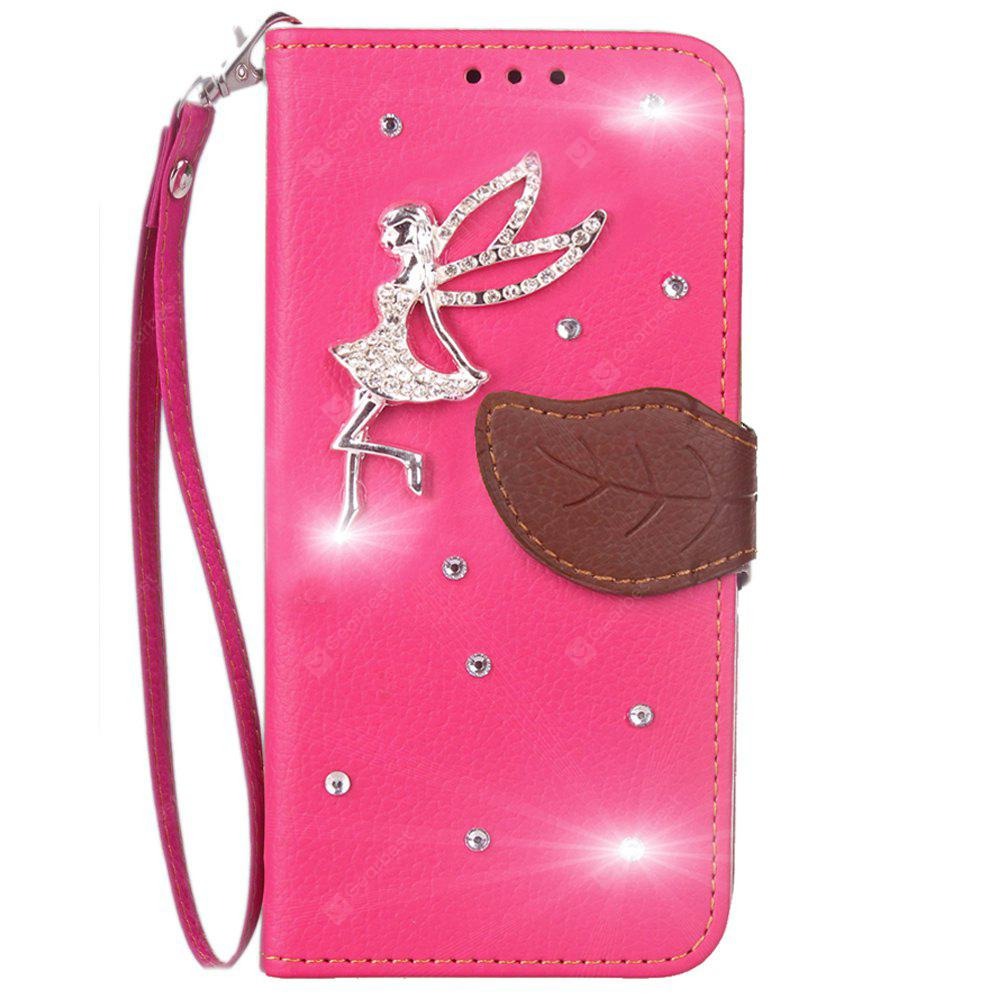 Luxo PU Leather Cover Wallet Phone Case para HOMTOM HT37 Diamond Fairy Telefone móvel Shell Case Flip Back Cover
