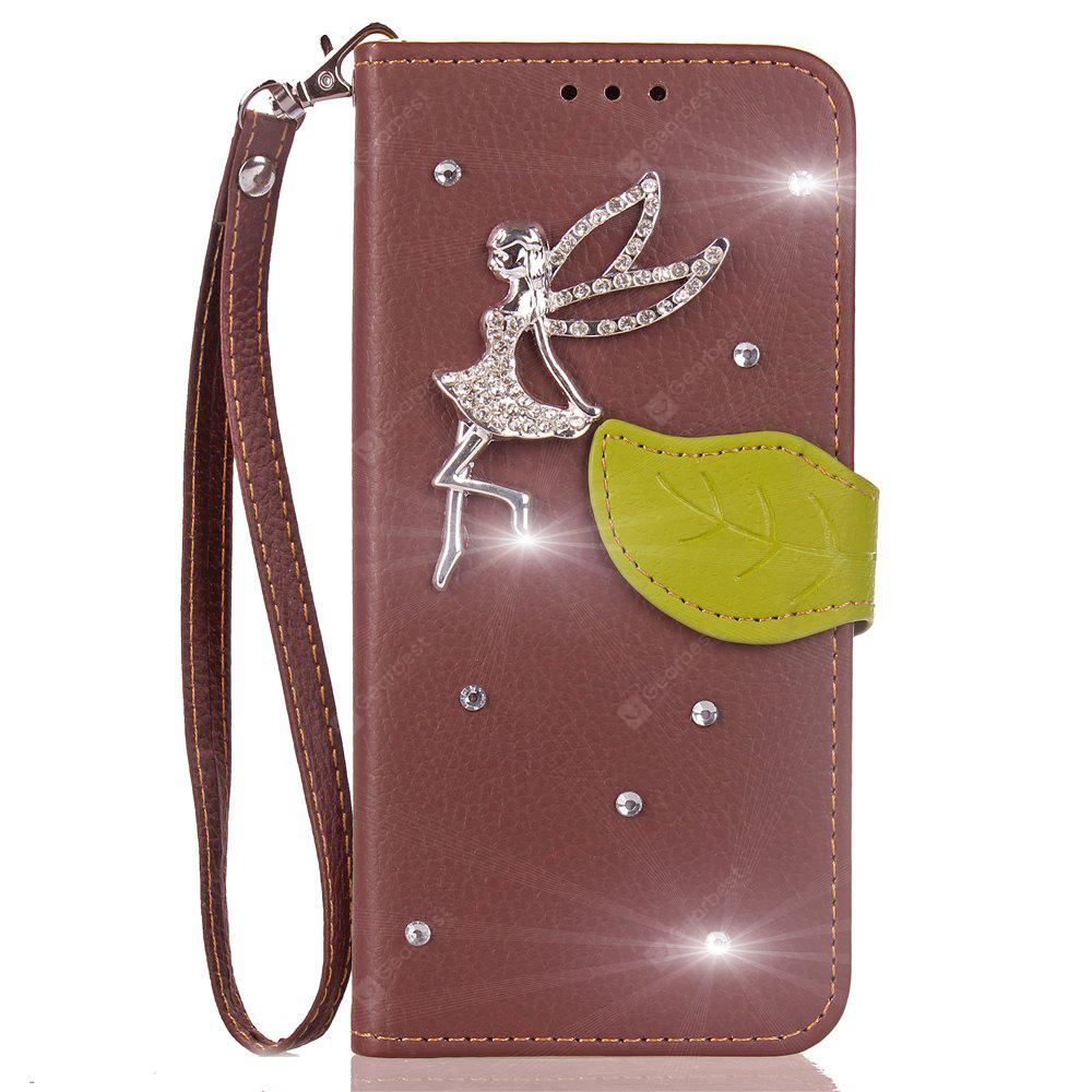 Luxo PU Leather Cover Wallet Telefone Diamond Fairy Capa Shell Shell para HUAWEI Mate 10 Lite Case Flip Back Cover