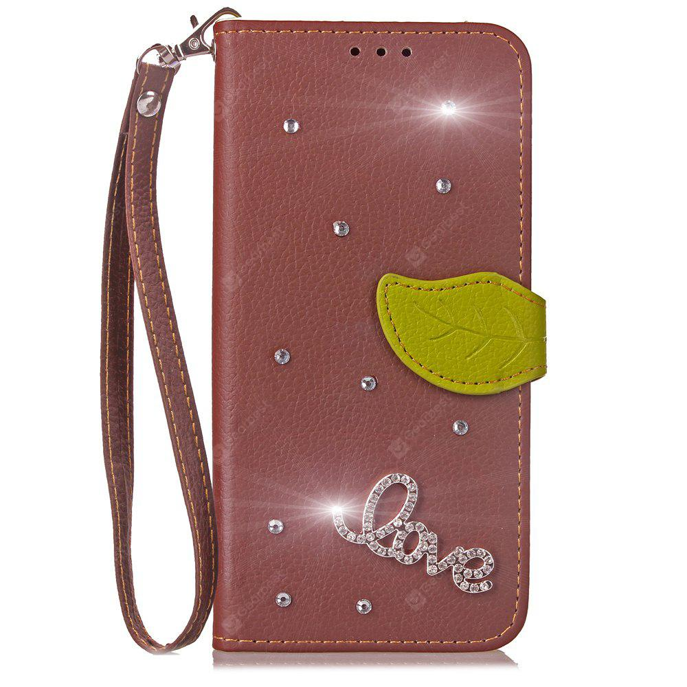Luxo PU Leather Cover Wallet Telefone Diamond Case Shell móvel para Leagoo Kiicaa Power Case Flip Back Cover