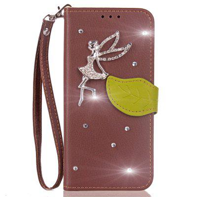 Luxo PU Leather Cover Wallet Telefone Diamond Fairy Capa Shell móvel para Leagoo Kiicaa Power Case Flip Back Cover
