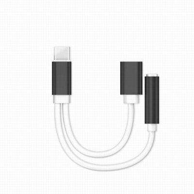 USB Type-C Audio Cable Charger and Music 2 in 1 Type-C to 3.5mm Jack Audio Conversion For Xiaomi Mi6 Letv Le 2 Pro Max