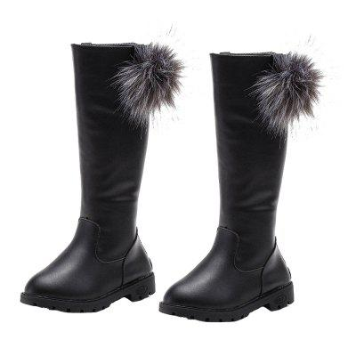 Autumn and Winter Children'S Shoes Fall and Winter High Boots doratasia big size 34 43 women half knee high boots vintage flat heels warm winter fur shoes round toe platform snow boots