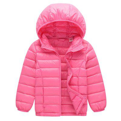 Autumn and Winter New Cashmere Girls Wear Thin Models Down Jacket