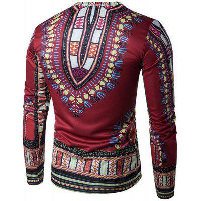 Daily Sports Formal Casual Active Boho Springk  Fall Geometric Print Long Sleeves T-shirtMens Long Sleeves Tees<br>Daily Sports Formal Casual Active Boho Springk  Fall Geometric Print Long Sleeves T-shirt<br><br>Collar: Round Neck<br>Material: Cotton<br>Package Contents: 1  X  T-shirt<br>Pattern Type: Print<br>Sleeve Length: Full<br>Style: Casual<br>Weight: 0.2800kg