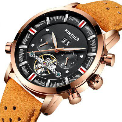 Men  Luxury Band Automatic Mechanical Watch Men Skeleton Perpetual Tourbillon CalendarMens Watches<br>Men  Luxury Band Automatic Mechanical Watch Men Skeleton Perpetual Tourbillon Calendar<br><br>Available Color: Black,White,Blue,Brown,Brown and Black,Gold and Brown,Red and Black,Black and Gold<br>Band material: Genuine Leather<br>Band size: 2.2<br>Case material: Metal<br>Clasp type: Pin buckle<br>Dial size: 4.2<br>Display type: Analog<br>Movement type: Automatic mechanical watch<br>Package Contents: 1 x Watch, 1 x Box<br>Package size (L x W x H): 16.00 x 8.00 x 3.00 cm / 6.3 x 3.15 x 1.18 inches<br>Package weight: 0.1300 kg<br>Product size (L x W x H): 27.00 x 4.20 x 1.50 cm / 10.63 x 1.65 x 0.59 inches<br>Product weight: 0.0950 kg<br>Shape of the dial: Round<br>Special features: Month, Working sub-dial, Tourbillon, Luminous, IP plating, Date, Day, Light<br>Watch mirror: Mineral glass<br>Watch style: Casual, Hollow-out, Trends in outdoor sports, Fashion, Business<br>Watches categories: Men<br>Water resistance: 30 meters<br>Wearable length: 27