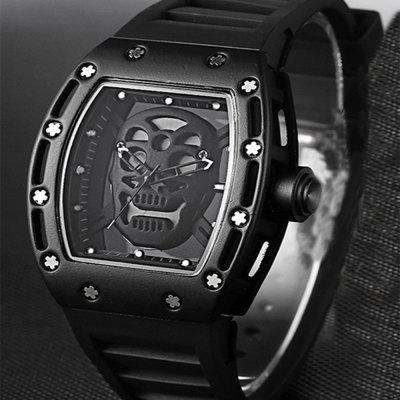 Punk Skull Style Fashion Men  Silicone Hollow Quartz Skull Steampunk Luxury Sports Casual WatcheMens Watches<br>Punk Skull Style Fashion Men  Silicone Hollow Quartz Skull Steampunk Luxury Sports Casual Watche<br><br>Available Color: Silver,Black,Gold,Black and Gold<br>Band material: Silicone<br>Band size: 2.1<br>Case material: Alloy<br>Clasp type: Pin buckle<br>Dial size: 4.2<br>Display type: Analog<br>Movement type: Quartz watch<br>Package Contents: 1 x Watch, 1 x Box<br>Package size (L x W x H): 8.00 x 8.00 x 6.00 cm / 3.15 x 3.15 x 2.36 inches<br>Package weight: 0.1100 kg<br>Product size (L x W x H): 25.00 x 2.50 x 1.50 cm / 9.84 x 0.98 x 0.59 inches<br>Product weight: 0.0800 kg<br>Shape of the dial: Rectangle<br>Watch mirror: Mineral glass<br>Watch style: Fashion, Cool, Trends in outdoor sports, Hollow-out, Casual<br>Watches categories: Men<br>Wearable length: 23