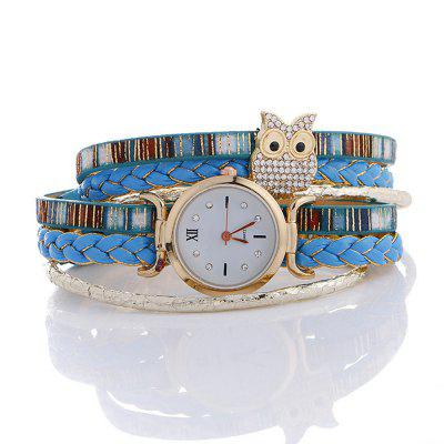 Women Brand Duoya Creative Owl Wrist Bracelet Vintage Handmade Braided Luxury Quartz Ladies Wrist WatchWomens Watches<br>Women Brand Duoya Creative Owl Wrist Bracelet Vintage Handmade Braided Luxury Quartz Ladies Wrist Watch<br><br>Available Color: Black,White,Red,Blue,Dark blue<br>Band material: PU<br>Band size: 2.0<br>Case material: Alloy<br>Clasp type: Hidden clasp<br>Dial size: 2.7<br>Display type: Analog<br>Movement type: Quartz watch<br>Outer perimeter: 39<br>Package Contents: 1 x Watch, 1 x Box<br>Package size (L x W x H): 8.50 x 8.50 x 6.00 cm / 3.35 x 3.35 x 2.36 inches<br>Package weight: 0.0700 kg<br>Product size (L x W x H): 39.00 x 2.70 x 0.80 cm / 15.35 x 1.06 x 0.31 inches<br>Product weight: 0.0350 kg<br>Shape of the dial: Round<br>Watch mirror: Mineral glass<br>Watch style: Casual, Childlike, Fashion<br>Watches categories: Women,Female table<br>Water resistance: No<br>Wearable length: 39