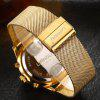 Fashion Men  Luxury Chronograph  Quartz  Simulated Stainless Steel Mesh With Watch - GOLDEN