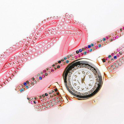Reebonz Diamond Ladies Fashion Quartz Watch with Multi-Layer Woven WindingWomens Watches<br>Reebonz Diamond Ladies Fashion Quartz Watch with Multi-Layer Woven Winding<br><br>Band material: Cloth<br>Band size: 39 x 1.2cm<br>Case material: Stainless Steel<br>Dial size: 2.5 x 2.5 x 1cm<br>Display type: Analog<br>Movement type: Quartz watch<br>Package Contents: 1 x Watch<br>Package size (L x W x H): 18.00 x 5.50 x 1.50 cm / 7.09 x 2.17 x 0.59 inches<br>Package weight: 0.0350 kg<br>Product size (L x W x H): 39.00 x 1.20 x 1.00 cm / 15.35 x 0.47 x 0.39 inches<br>Product weight: 0.0290 kg<br>Shape of the dial: Round<br>Watch style: Retro, Business, Classic, Fashion, Casual<br>Watches categories: Women<br>Water resistance: Life water resistant