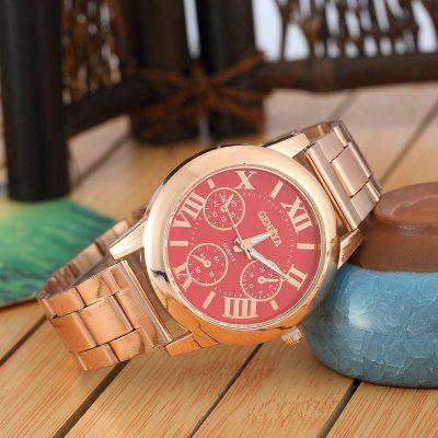 GENEVA Rose Gold Steel Band Watch Quartz WatchWomens Watches<br>GENEVA Rose Gold Steel Band Watch Quartz Watch<br><br>Band material: Stainless Steel<br>Band size: 24 x 2cm<br>Case material: Stainless Steel<br>Dial size: 4 x 4 x 1cm<br>Display type: Analog<br>Movement type: Quartz watch<br>Package Contents: 1 x Watch<br>Package size (L x W x H): 16.00 x 5.50 x 1.50 cm / 6.3 x 2.17 x 0.59 inches<br>Package weight: 0.0700 kg<br>Product size (L x W x H): 23.50 x 4.00 x 1.00 cm / 9.25 x 1.57 x 0.39 inches<br>Product weight: 0.0600 kg<br>Shape of the dial: Round<br>Watch style: Cool, Retro, Business, Classic, Fashion, Casual<br>Watches categories: Women<br>Water resistance: Life water resistant