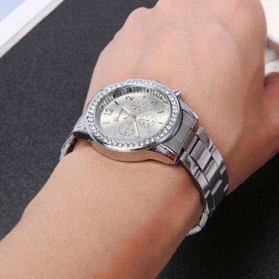 Geneva New Fashion Ladies Diamond Steel Business WatchWomens Watches<br>Geneva New Fashion Ladies Diamond Steel Business Watch<br><br>Band material: Stainless Steel<br>Band size: 22 x 2cm<br>Case material: Stainless Steel<br>Dial size: 3.8 x 3.8 x 1cm<br>Display type: Analog<br>Movement type: Quartz watch<br>Package Contents: 1 x Watch<br>Package size (L x W x H): 16.00 x 5.50 x 1.50 cm / 6.3 x 2.17 x 0.59 inches<br>Package weight: 0.0850 kg<br>Product size (L x W x H): 22.00 x 3.80 x 1.00 cm / 8.66 x 1.5 x 0.39 inches<br>Product weight: 0.0800 kg<br>Shape of the dial: Round<br>Watch style: Cool, Retro, Business, Classic, Fashion, Casual<br>Watches categories: Women<br>Water resistance: Life water resistant