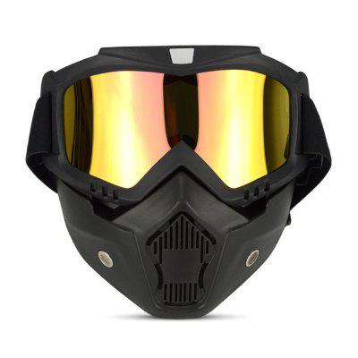 Motorcycle Bike Windproof Dustproof Helmet Goggles with Removable MaskMotorcycle Goggles &amp; Sunglasses<br>Motorcycle Bike Windproof Dustproof Helmet Goggles with Removable Mask<br><br>Accessories type: Motorcycle Goggles<br>Gender: Universal<br>Material: PC<br>Package Contents: 1 x Set Goggles<br>Package size (L x W x H): 20.00 x 20.00 x 5.00 cm / 7.87 x 7.87 x 1.97 inches<br>Package weight: 0.2600 kg<br>Product size (L x W x H): 19.00 x 16.50 x 18.00 cm / 7.48 x 6.5 x 7.09 inches<br>Product weight: 0.2500 kg