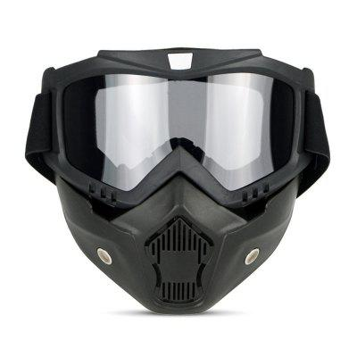 Motorcycle Bike Windproof Dustproof Helmet Goggles with Removable Mask