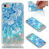 for Iphone 7 Blue Leaves Painted Soft Clear TPU Phone Casing Mobile Smartphone Cover Shell Case - BLUE