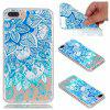 para Iphone 7 Plus Blue Leaves Pintado Soft Clear TPU Phone Casing Mobile Smartphone Cover Shell Case - AZUL