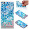 para Huawei P9 Lite Blue Leaves Pintado Soft Clear TPU Phone Casing Mobile Smartphone Cover Shell Case - AZUL